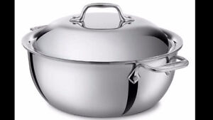 All-Clad Stainless Steel 5 1/2 Qt. MARMITE induction **NEUF**