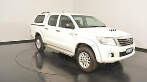 2015 Toyota Hilux KUN26R MY14 SR Double Cab White 5 Speed Manual Utility Victoria Park Victoria Park Area Preview