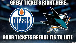 ★★ Edmonton Oilers vs. San Jose Sharks THU Mar 30 7:00PM★★