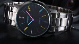 Gimto steel quartz black business watch brand new
