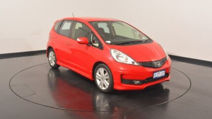 2013 Honda Jazz GE MY13 Vibe-S Red 5 Speed Automatic Hatchback Victoria Park Victoria Park Area Preview