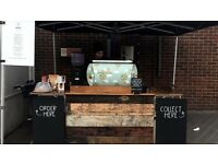 Barista with UK Drivers License for Outdoor Coffee Cart