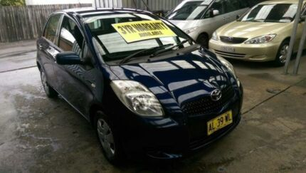 2006 Toyota Yaris NCP90R YR Dark Blue 5 Speed Manual Hatchback Five Dock Canada Bay Area Preview