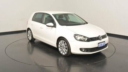 2010 Volkswagen Golf VI MY10 118TSI DSG Comfortline Candy White 7 Speed Sports Automatic Dual Clutch