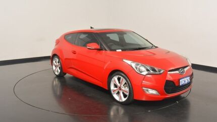 2012 Hyundai Veloster FS + Coupe D-CT Red 6 Speed Sports Automatic Dual Clutch Hatchback