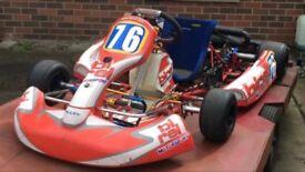 Birel Rotax Max Senior Racing Go-Kart - Trailer and Spares