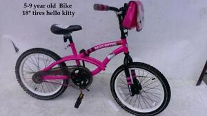 "5-9 year old Girl's Bike 18"" tires hello kitty"