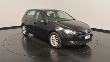 2010 Volkswagen Golf VI MY10 118TSI DSG Comfortline Deep Black 7 Speed Sports Automatic Dual Clutch
