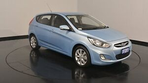 2012 Hyundai Accent RB Elite Blue 4 Speed Sports Automatic Hatchback Victoria Park Victoria Park Area Preview