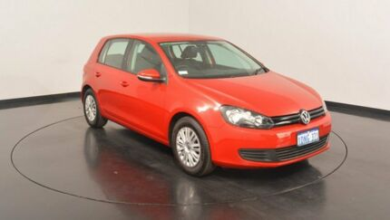 2010 Volkswagen Golf VI MY11 77TSI DSG Amaryllis Red 7 Speed Sports Automatic Dual Clutch Hatchback
