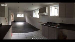 Large 5 1/2 semi basement appartment in laval ouest for rent