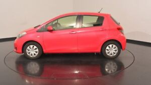 2012 Toyota Yaris NCP130R YR Pink 4 Speed Automatic Hatchback