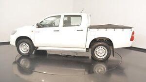 2014 Toyota Hilux KUN26R MY14 SR Double Cab White 5 Speed Manual Utility Victoria Park Victoria Park Area Preview