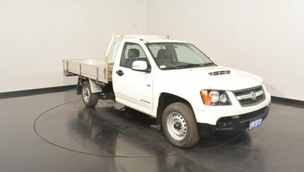 2011 Holden Colorado RC MY11 LX White 5 Speed Manual Cab Chassis