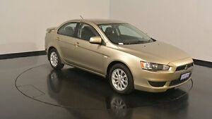 2011 Mitsubishi Lancer CJ MY11 SX Beige 6 Speed Constant Variable Sedan Victoria Park Victoria Park Area Preview