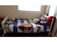 Boys white wooden single bed