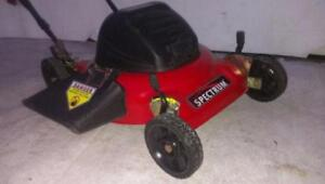 NEW blade 19 INCH Electric SPECTROM Lawn Mower Lawnmower  3200 RPM motor 4.5 HP