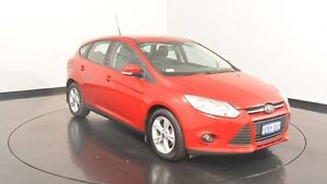 2012 Ford Focus LW MKII Trend PwrShift Burgundy 6 Speed Sports Automatic Dual Clutch Hatchback Victoria Park Victoria Park Area Preview