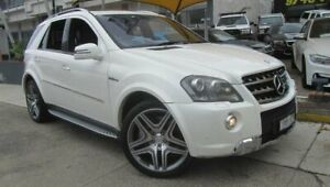 2011 Mercedes-Benz ML63 AMG 164 MY11 4x4 White 7 Speed Automatic G-Tronic Wagon Homebush Strathfield Area Preview