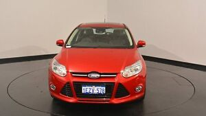 2015 Ford Focus LW MKII MY14 Titanium PwrShift Red 6 Speed Sports Automatic Dual Clutch Hatchback Victoria Park Victoria Park Area Preview