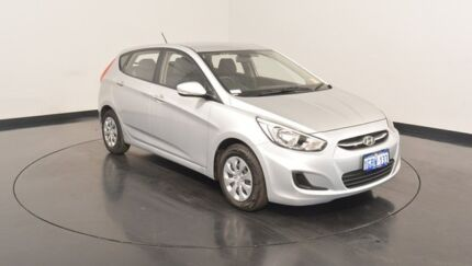 2016 Hyundai Accent RB4 MY16 Active Sleek Silver 6 Speed Manual Hatchback