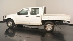 2012 Nissan Navara D40 S6 MY12 ST White 5 Speed Sports Automatic Utility Victoria Park Victoria Park Area Preview
