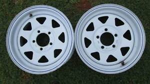 White Sunraysia Trailer Rims 14' x 16' Good Condition Palmwoods Maroochydore Area Preview