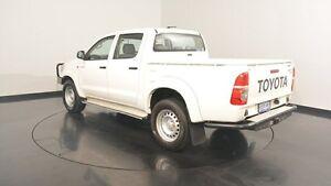2012 Toyota Hilux KUN26R MY12 SR Double Cab White 5 Speed Manual Utility Victoria Park Victoria Park Area Preview