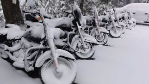 Heated Winter Motorcycle Storage