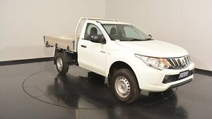 2015 Mitsubishi Triton MQ MY16 GLX White 5 Speed Manual Cab Chassis Welshpool Canning Area Preview