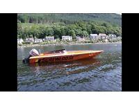 Speedboat 21ft Racing Hull Ski Boat 150HP like Phantom Fletcher Bayliner Winter Bargain