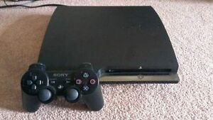 PS3 SLIM+GAMES+CONTROLLER LIKE NEW!!