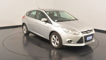 2012 Ford Focus LW MKII Trend PwrShift Moondust Silver 6 Speed Sports Automatic Dual Clutch
