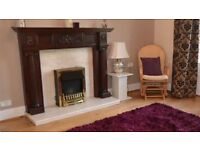 Fireplace c/w Marble Hearth