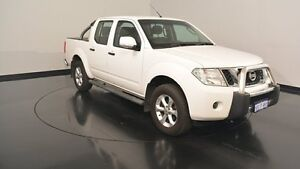 2014 Nissan Navara D40 S6 MY12 ST White 6 Speed Manual Utility Victoria Park Victoria Park Area Preview