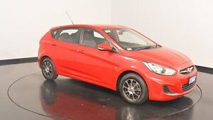 2012 Hyundai Accent RB Active Red 5 Speed Manual Hatchback Victoria Park Victoria Park Area Preview