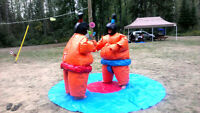 Sumo Suits for rent - awesome for birthdays/parties/other events