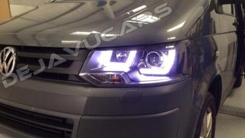 vw t5 gp facelift xenon koplampen t51 u led drl t6 look