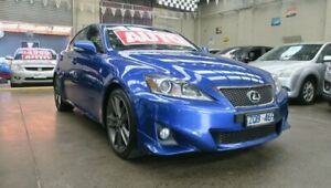 2012 Lexus IS250 GSE20R MY11 Sports Luxury Blue 6 Speed Auto Sequential Sedan Mordialloc Kingston Area Preview