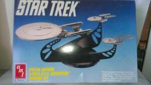 AMT Star Trek USS Enterprise Chrome Set Kit # 6005 New Open Box