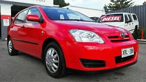 2006 Toyota Corolla ZZE122R Ascent Seca Red 5 Speed Manual Hatchback Pooraka Salisbury Area Preview