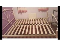 Double netal bed with mattress can deliver