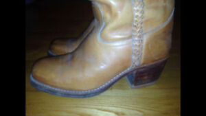 Boots Made in Brazil.   A woman's size 10.5 - 11.   A mans 9.5 -