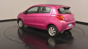 2013 Mitsubishi Mirage LA MY14 ES Mulberry Purple 1 Speed Constant Variable Hatchback Victoria Park Victoria Park Area Preview