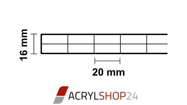 polycarbonat pc doppelstegplatten hohlkammerplatten klar 16 mm 980 1200 2100 mm eur 9 04. Black Bedroom Furniture Sets. Home Design Ideas