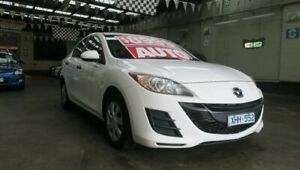 2009 Mazda 3 BL Neo White 5 Speed Automatic Sedan Mordialloc Kingston Area Preview
