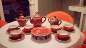 21 piece geisha tea set
