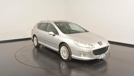 2007 Peugeot 407 SV Touring HDi Silver 6 Speed Sports Automatic Wagon Victoria Park Victoria Park Area Preview