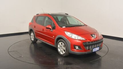 2009 Peugeot 207 A7 Series II MY10 Outdoor Touring Red 4 Speed Sports Automatic Wagon Victoria Park Victoria Park Area Preview
