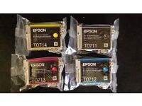 Epson Ink Cartridges T0711 T0712 T0713 T0714 ***BRAND NEW***